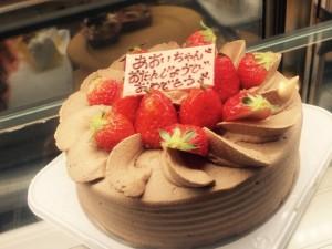 削りチョコイチゴケーキ